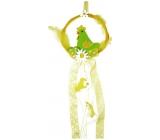 Věneček s kohoutem zelený na zavěšení 16 cm