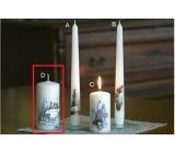 Lima Relief Winter Candle Metal White Frost Effect Cylinder 60 x 120 mm 1 Piece