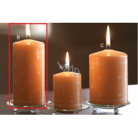Lima Heart print candle salmon cylinder 60 x 120 mm 1 piece