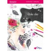 Ditipo Glittering coloring book Boho Chic 8 sheets
