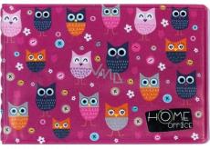 Albi Case for business cards, owls 9.5 cm x 7 cm