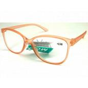 Berkeley Reading glasses +2.5 plastic old pink transparent 1 piece MC2191