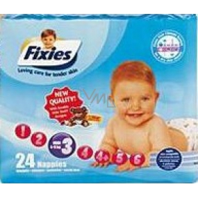 Fixies Active Life 3 Midi 4 - 9 kg diapers 24 pieces