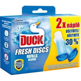 Duck Fresh Discs Sea scent WC gel for hygienic cleanliness and freshness of your toilet spare refill 2x36 ml