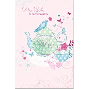 Ditipo Birthday card glitter For you birthday 120 x 180 mm