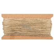 Linen string brown, 20 m