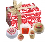 Bomb Cosmetic Christmas carol sparkling bathing ball 2 pcs x 160 g + butter block 1 pc + butter ball 1 pc + glycerine soap 1 pc 100 g, cosmetic set