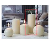 Lima Ice pastel candle creme cylinder 80 x 200 mm