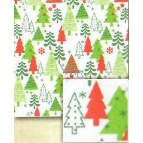 Nekupto Gift wrapping paper 70 x 500 cm Christmas White, green and red trees