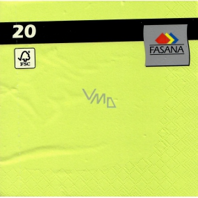 Fasana Paper napkins colored green 3 ply 33 x 33 cm 20 pieces