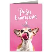 Nekupto Birthday card Birthday kiss? 3455 F