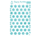 Arch Holographic decorative stickers Christmas snowflakes turquoise 18 x 11,5 cm 1 arch