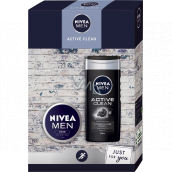 Nivea Men Active Clean shower gel 250 ml + cream 75 ml, cosmetic set for men