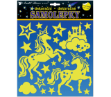 Room Decor Stickers glowing in the dark unicorns 25 x 25 cm