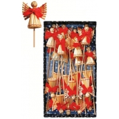 Straw angel on a stick in a box of 24 pieces