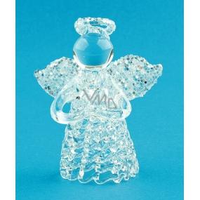 Glass angel standing 6 cm