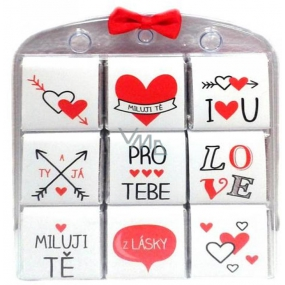 Nekupto Chocolate puzzle For you, I love you, hearts 9 x 5 g