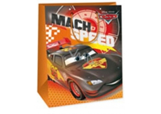 Ditipo Disney Gift paper bag for children Cars Mach Speed 33 x 10.2 x 45.7 cm