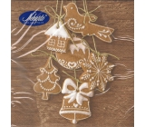 Nekupto Christmas brown gingerbread paper napkins 3 ply 33 x 33 cm 20 pieces