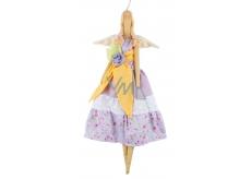 Andělka látková fialková 47 cm