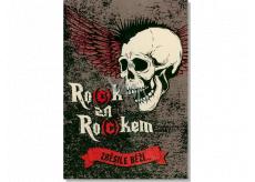Albi Envelope Playing Card Birthday Birthday Winged Skull How many times Škwor 14.8 x 21 cm