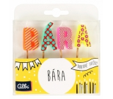 Albi Cake candles name - Bára, 2,5 cm
