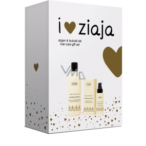 Ziaja Argan oil smoothing shampoo 300 ml + hair serum 50 ml, cosmetic set