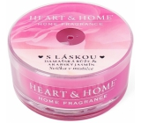 Heart & Home With love Soy scented candle in a bowl burns for up to 12 hours 36 g
