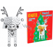 Ditipo 3D cardboard jigsaw puzzle Reindeer 15 cm