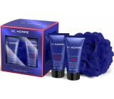 Grace Cole Looking good shower gel 50 ml + hair shampoo 50 ml + body sponge, cosmetic set for men