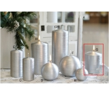 Lima Alfa candle silver cylinder 80 x 100 mm 1 piece