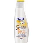 Nivea Sun Kids Pure & Sensitive OF50+ mléko na opalování pro děti 200 ml