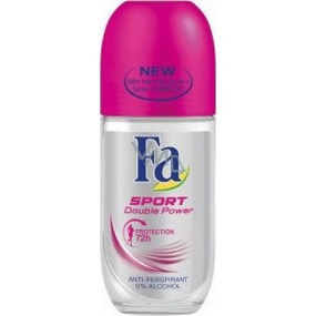 Fa Sport Double Power Sporty Fresh kuličkový deodorant roll-on pro ženy 50 ml