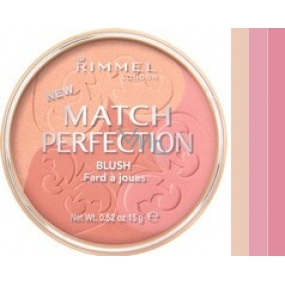 Rimmel London Match Perfection Trio Blusher 001 Light 15 g