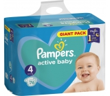 Pampers Active Baby Dry 4 Maxi 9-14 kg disposable diapers 76 pieces