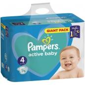 Pampers Active Baby Dry 4 Maxi 8-14 kg jednorázové plenky 76 kusů