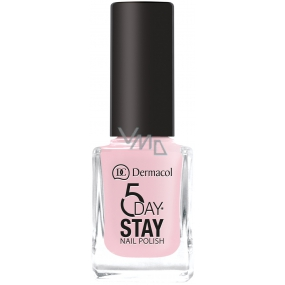 Dermacol 5 Day Stay Long-lasting nail polish 06 First Kiss 11 ml