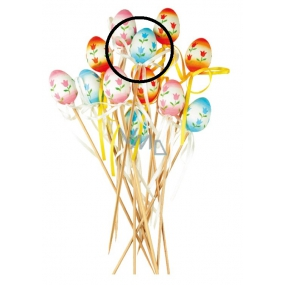 Plastic egg with tulips blue recess 4 cm + skewers