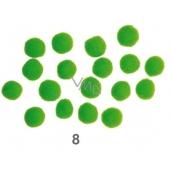 Bambulky Zelené 2,5 cm 18 kusů