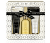 Baylis & Harding Mandarin and Grapefruit liquid body soap 300 ml + shower cream 130 ml + soap 150 g + hand and body lotion 130 ml + small white terry towel, cosmetic set