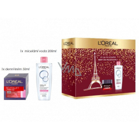 Loreal Paris Revitalift Laser X3 day cream against skin aging 50 ml + micellar water for dry and sensitive skin 200 ml, cosmetic set
