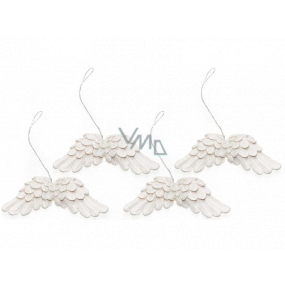 Angel wings white 75 mm 4 pieces