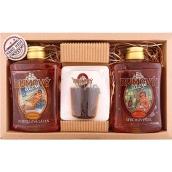 Bohemia Gifts & Cosmetics Rumová kosmetika sprchový gel 300 ml + ručně vyráběné mýdlo ve tvaru panáka rumu 70 g + olejová lázeň 300 ml kosmetická sada