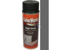 Color Works High Temp 8553 antracit žáruvzdorný lak na povrchy 400 ml