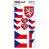 Arch Tattoo Decals for face and body Czech Republic flag 8 x 15 cm 1 piece