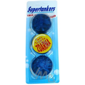 Supertankers Twin Blue WC tablets in a 2 + 1 tank, 3 x 50 g blue