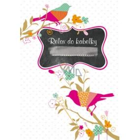 Ditipo Relax in handbag Bird notebook 15 x 10.5 cm