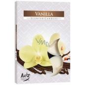Bispol Aura Vanilla s vůní vanilky vonné čajové svíčky 6 kusů