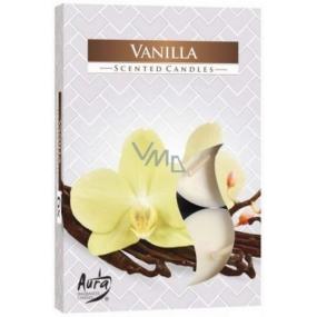 Bispol Aura Vanilla - Vanilla scented tealights 6 pieces