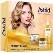 Astrid + čBeauty Elixir anti-wrinkle day cream 50 ml + cleansing skin oil 145 ml, cosmetic set